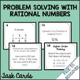 Problem Solving with Rational Numbers Task Cards Activity