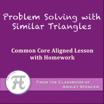 Problem solving with angles teaching resources teachers pay teachers problem solving with similar triangles lesson with homework fandeluxe Images