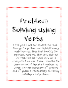 Problem Solving with Verbs