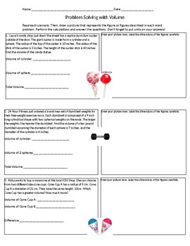 Problem Solving with Volume: Cylinders, Cones, and Spheres