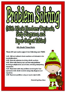 Problem Solving with Whole Numbers, Decimals, Strip Diagra