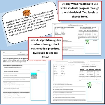 Problem Solving with the 8 Mathematical Practices Tri-foldable Grades 6-8
