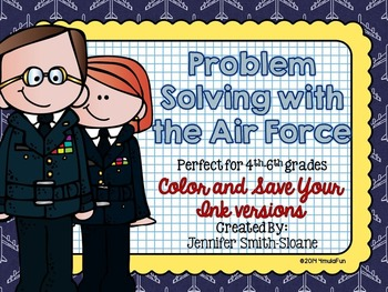 Problem Solving with the Air Force Task Cards (Color and Save Your Ink)