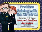 Veterans Day Math   Problem Solving Task Cards (Air Force)