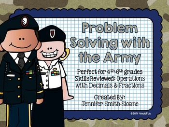 Problem Solving with the Army Task Cards (Color and Save Your Ink)