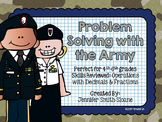 Veterans Day Math   Problem Solving Task Cards (Army)