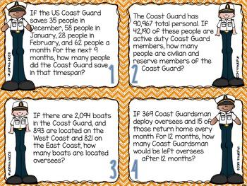 Problem Solving Task Cards (Coast Guard)
