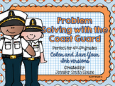 Veterans Day Math | Problem Solving Task Cards (Coast Guard)