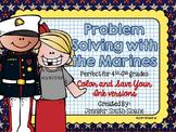 Veterans Day Math   Problem Solving Task Cards (Marines)