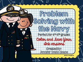 Problem Solving with the Navy Task Cards (Color and Save Your Ink)