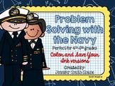 Veterans Day Math   Problem Solving Task Cards (Navy)