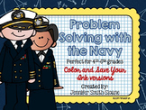 Problem Solving with the Navy Task Cards (Color and Save Y