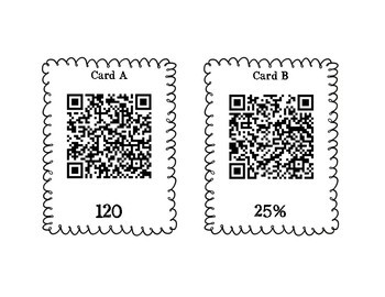 Percent Proportion Find Missing Part, Whole or Percent Scavenger Hunt! QR Code