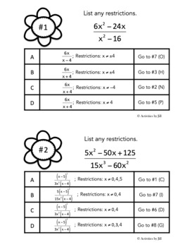 Problem Trail: Algebraic Fractions