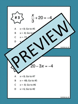 Problem Trail: Two Step Equations