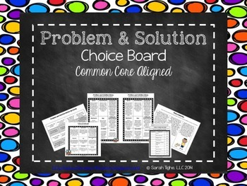 Problem and Solution Choice Board (Common Core Aligned)