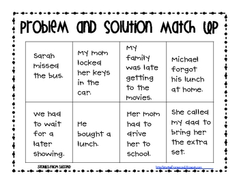 Problem And Solution Activity Pack By Fourth And Ten Tpt