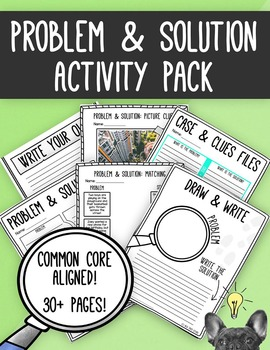 Problem and Solution Activity Pack [Common Core]