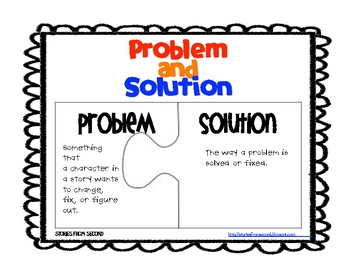 Problem and Solution Activity Pack