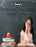 Problem and Solution Anchor Chart (Critical Thinking Freebie)