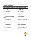 Problems and Solutions Assessment and Worksheets