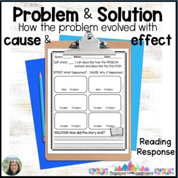 Problem and Solution & Cause and Effect Reading Response Graphic Organizers