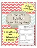 Problem and Solution Graphic Organizer ELA