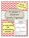 Problem and Solution Graphic Organizer ELA