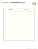 Problem and Solution- Graphic Organizer