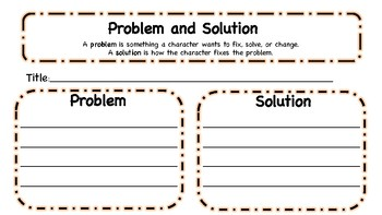 Problem and Solution Graphic Organizer