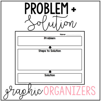 photo about Problem Solution Graphic Organizer Printable identified as Circumstance And Option Image Organizer Worksheets TpT