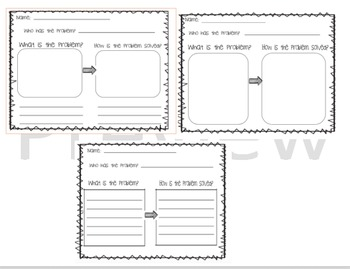 Problem and Solution Graphic Organizers Bundle