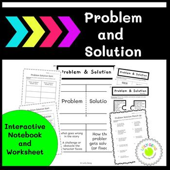 Problem and Solution Interactive Notebook and Worksheets