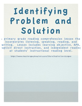 Problem and Solution Lesson Plan