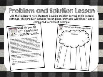 Problem and Solution Lesson - What do you do with a problem?