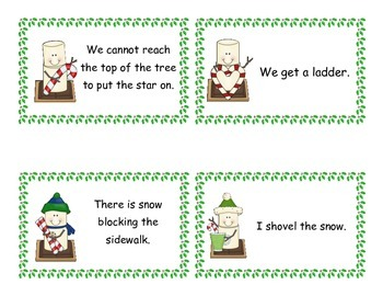 Problem and Solution Matching Game - Winter/Christmas Themed