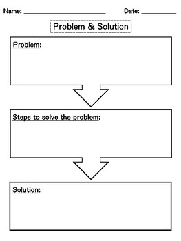 Problem and Solution - Reading Graphic Organizer // 9 Worksheets included