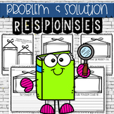 Reading Response- Problem and Solution Worksheets (3 in 1)