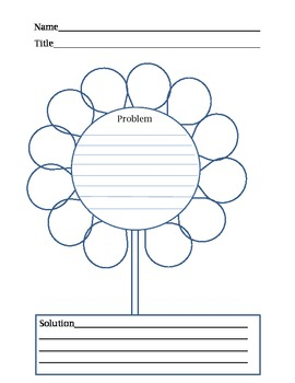 Problem and Solution Springtime or Summer Flower Graphic Organizer