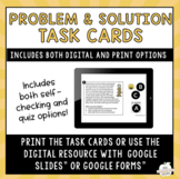 Problem and Solution Task Cards - Distance learning activity