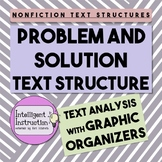 Problem and Solution Text Structure Paragraphs: Graphic Organizer Worksheet