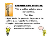 Problem and Solution Text Structure Poster