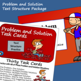 Problem and Solution Text Structure - Task Cards and Slide