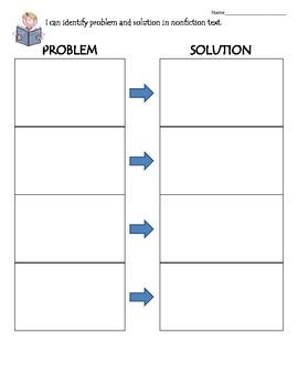 Problem and Solution in Nonfiction Chart
