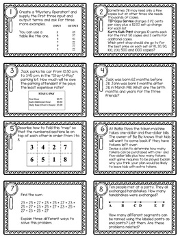Problem of the Day Task Cards