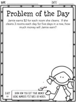 Problem of the Day (3rd Grade)