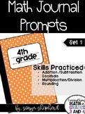 4th Grade Math Journal Prompts - set 1