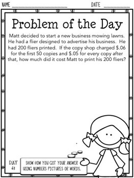 Problem of the Day (5th Grade)