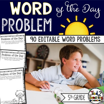 Problem of the Day: 5th Grade (Editable)