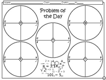 Problem of the Day - 7th Math TEKS Readiness Standards